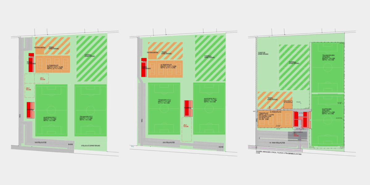Mgde Kirchberg/Wagram, Sportzentrum, Entwicklung