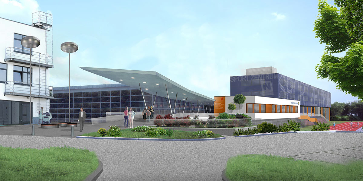 Sportzentrum NÖ, Zentralgebäude, Sanierung (Energieopt.)